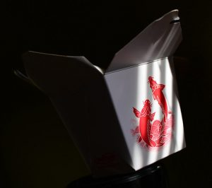 Image of a takeout box for Chinese food.