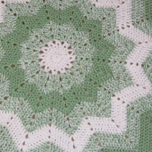 Photograph of a crocheted blanket