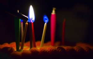 Image of lit birthday candles
